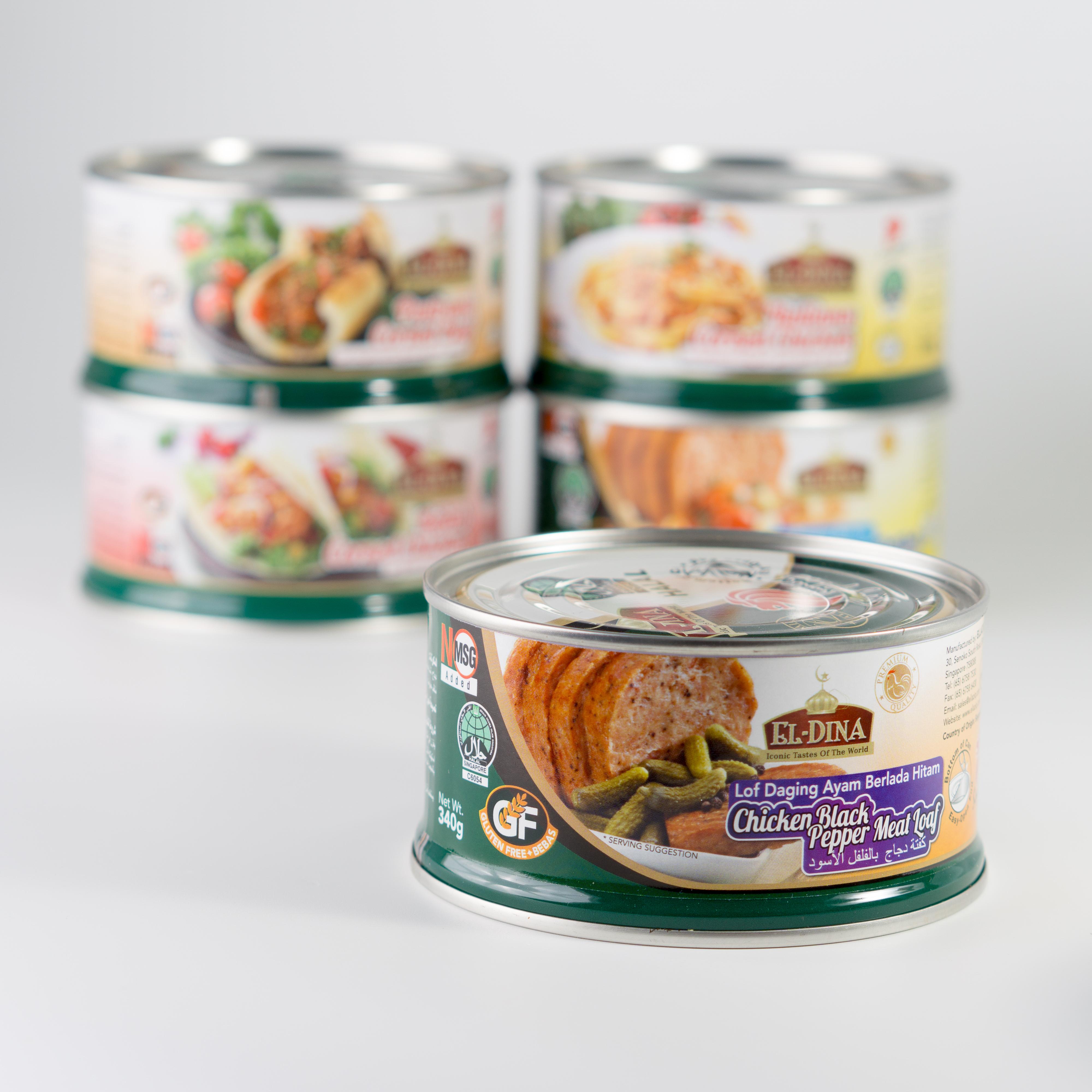 El-Dina Chicken Meat Loaf – Black Pepper | Singapore Manufacturing